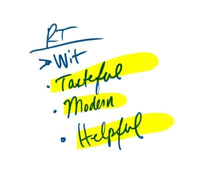 Random Thoughts section in a Mind Map // Brand Adjectives