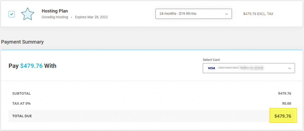 Screenshot showing my actual renewal quote from SiteGround • Best Web Hosting for Entrepreneurs