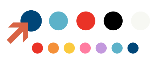 Screenshot showing the Courage & Grow color palette, with the Primary Color identified • Choose Website Colors